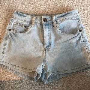 High waisted light wash jean shorts - MUST SELL